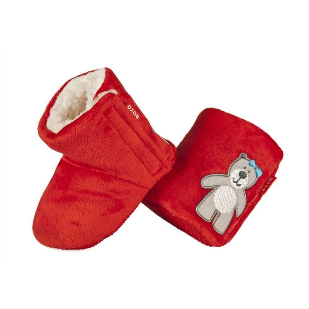 dec83edd Kapcie niemowlęce SOXO ciepłe kozaczki z misiem NIEMOWLĘTA \ Kapcie ...