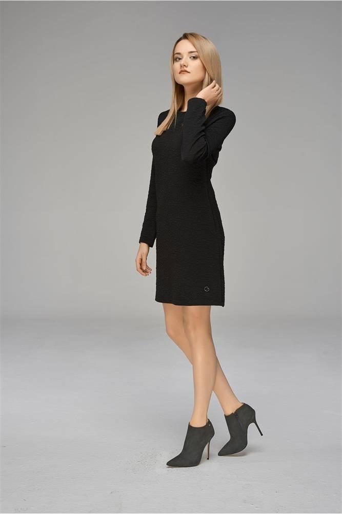 bfa0ba9921 Klasyczna sukienka trapezowa z długim rękawem G LOOK   Sukienki ...